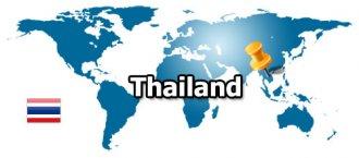 Тайланд на карте мира. Где находится Тайланд.
