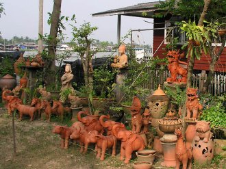 Керамика в Тайланде. Керамические изделия в Таиланде.