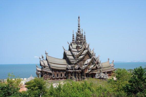 Как добраться до храма истины в паттайе самостоятельно